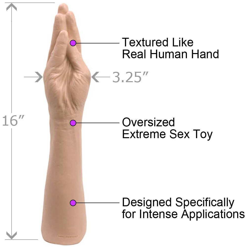 "Classic Hand Dildo, 16"", Flesh"