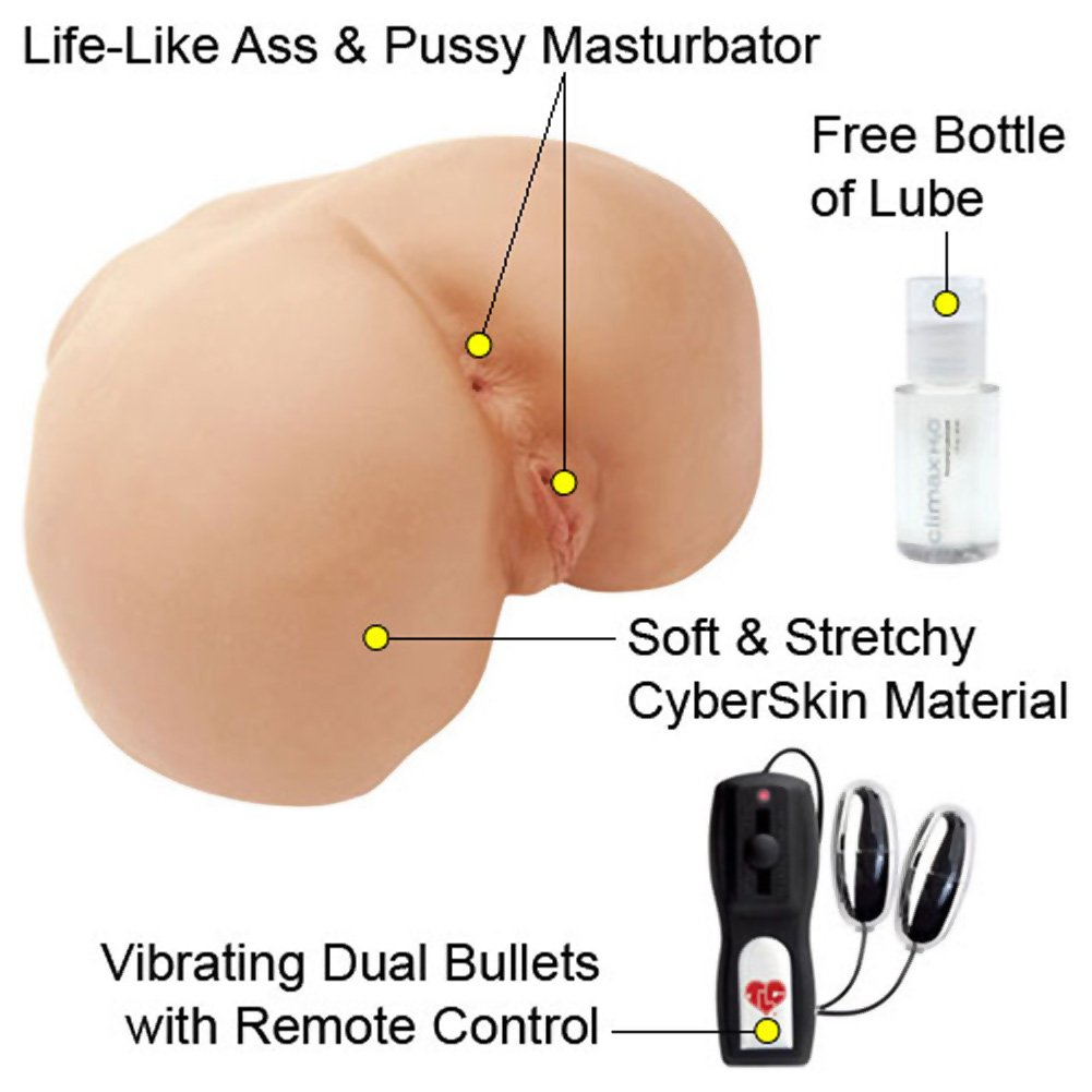 CyberSkin Vibrating Perfect Ass Realistic Masturbator, Flesh