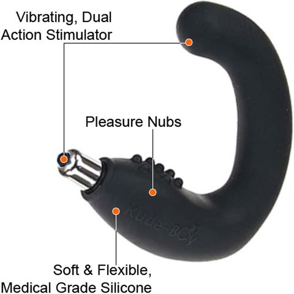 Rocks-Off Rude-Boy Silicone Vibrating Prostate Massager, Black