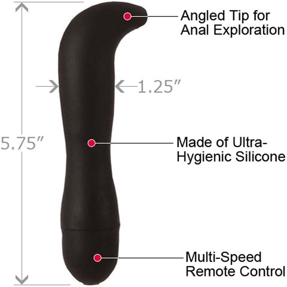 "Dr Joel Kaplan Power Probe Prostate Silicone P-Spot Vibe, 5.75"", Black"