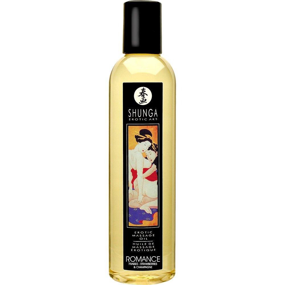 Shunga Erotic Art Flavored Massage Oil, 8 Fl.Oz (240 mL), Romance Strawberry
