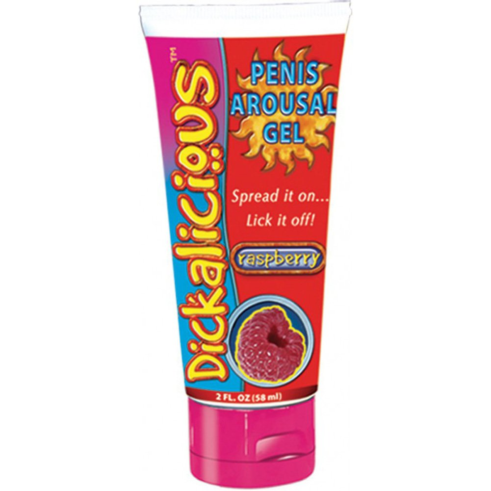 Hott Products Dickalicious Penis Arousal Gel, 2 Fl.Oz (58 mL), Raspberry