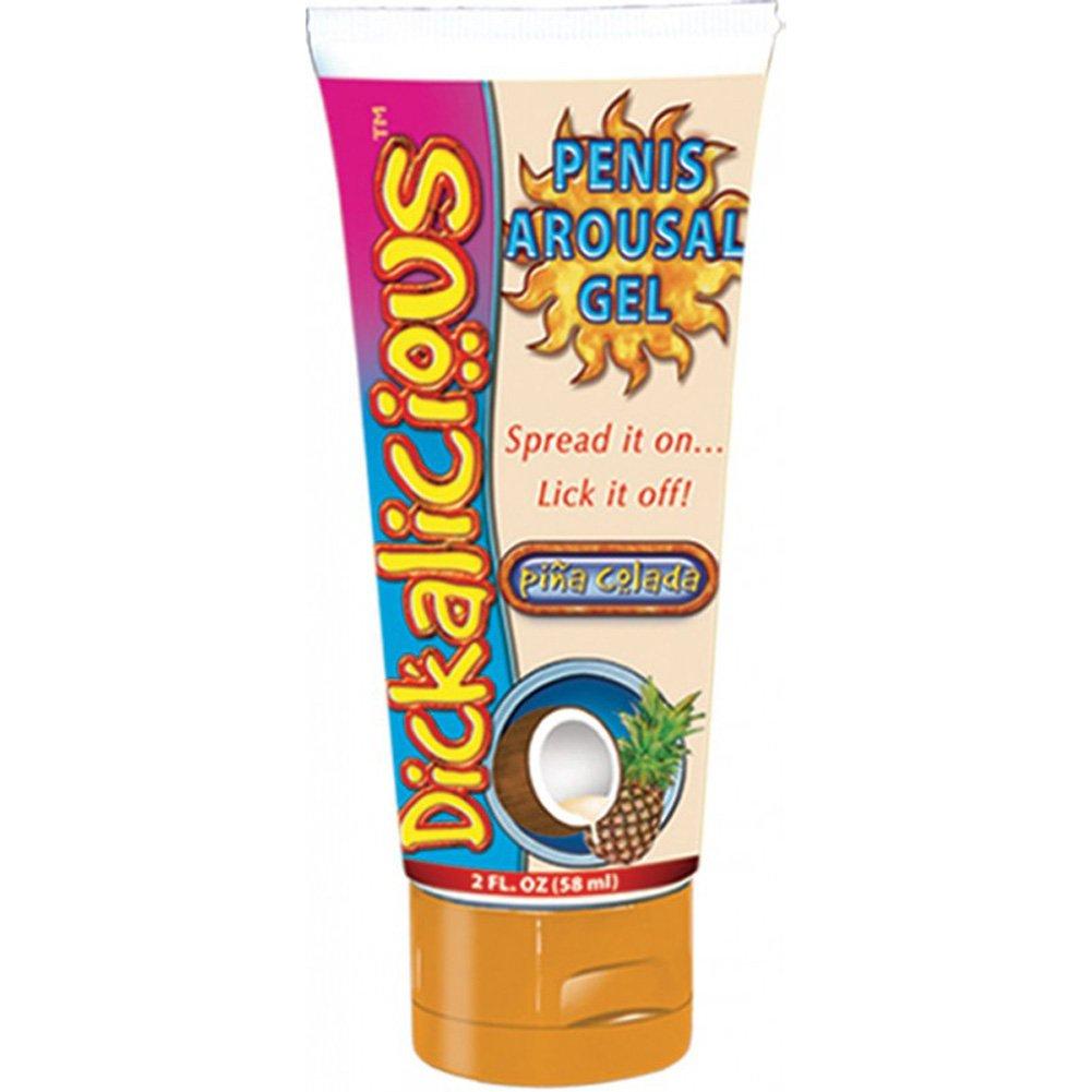Hott Products Dickalicious Penis Arousal Gel, 2 Fl.Oz (58 mL), Pina Colada