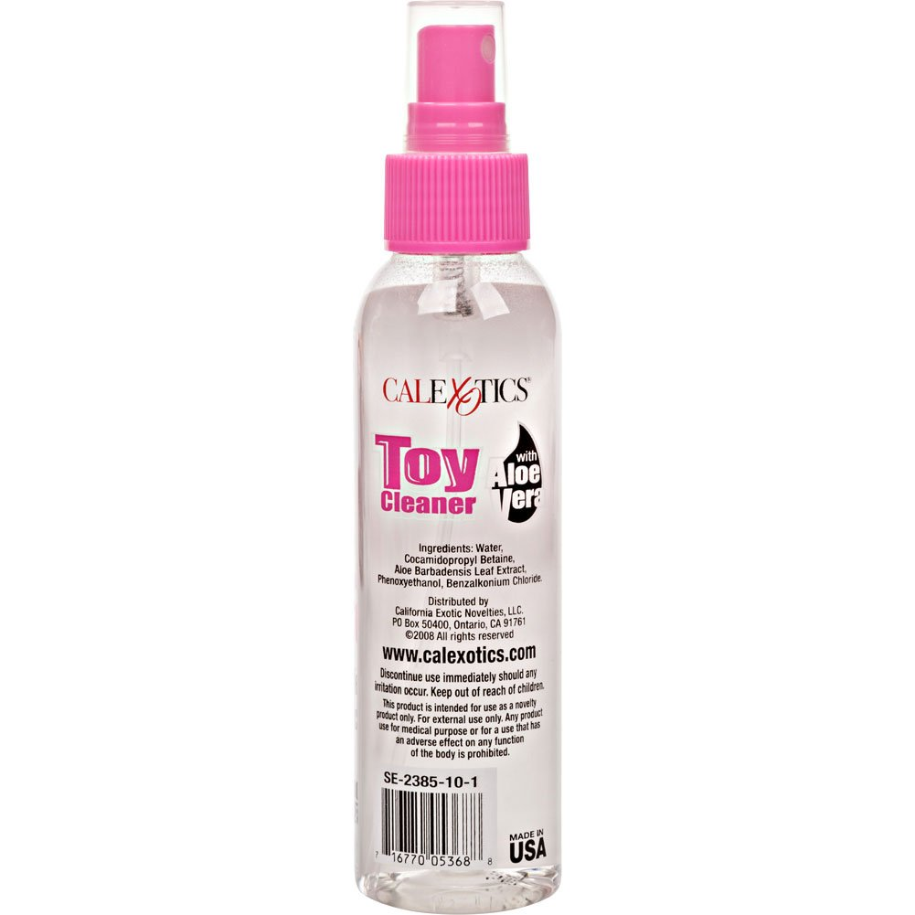 CalExotics Anti Bacterial Toy Cleaner with Aloe Vera, 4.3 Fl.Oz (128 mL)