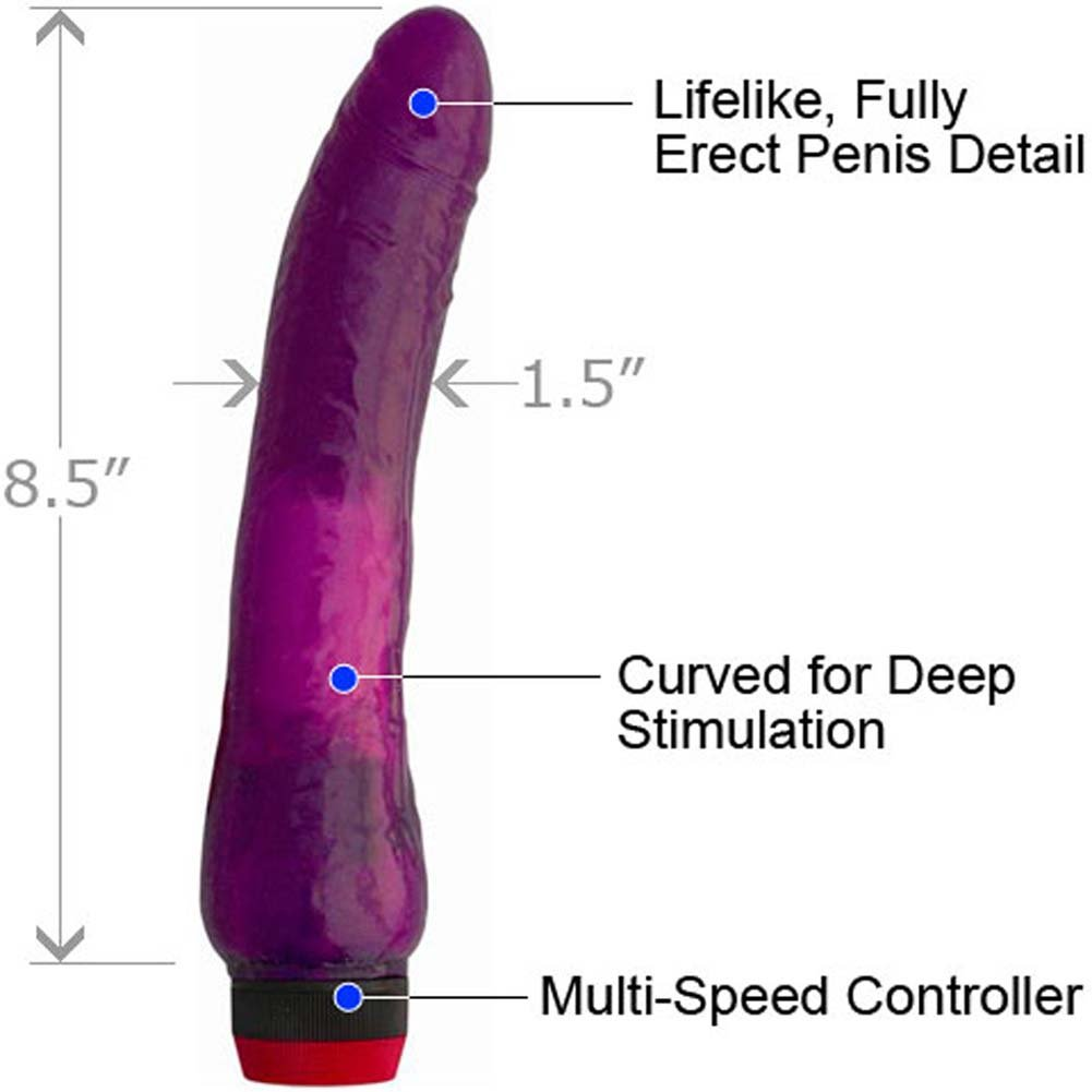 "Jelly Caribbean No 1 Waterproof Personal Vibrator, 8.5"", Purple"
