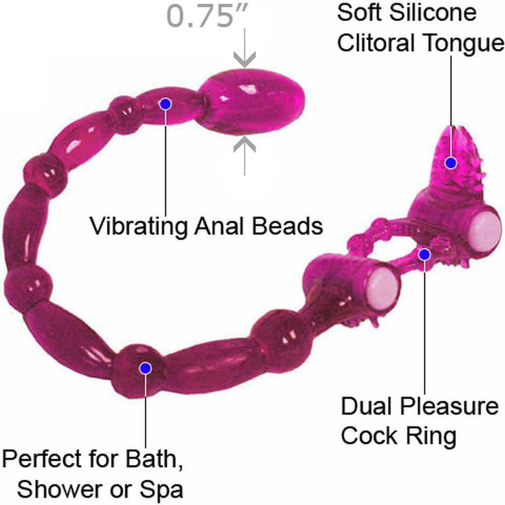 Super Xtreme Scorpion with Clitoral Tongue and Anal Vibe, Purple