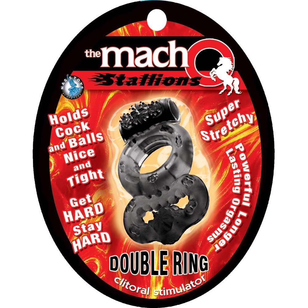 Nasstoys Macho Stallions Vibrating Double Ring, Black