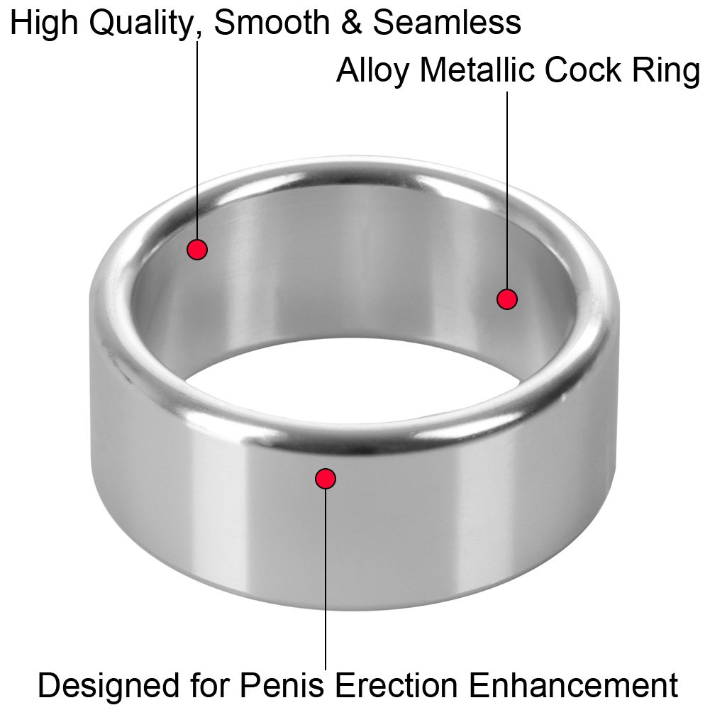 "CalExotics Alloy Metallic Penis Enhancement Ring, 1.5"", Silver"