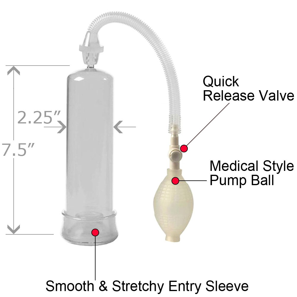 """So Pumped Penis Pump, 7.5"""" by 2.25"""", Clear"""