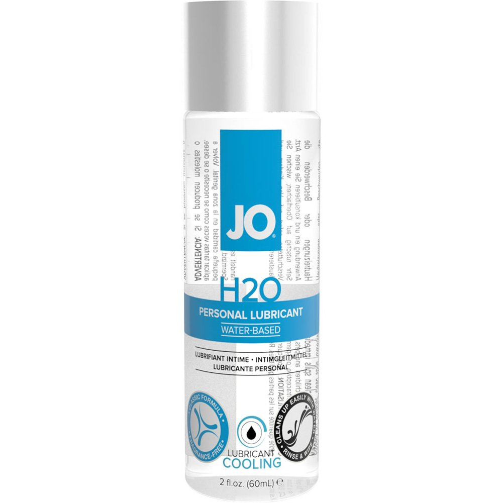 JO H2O Cooling Personal Water Based Personal Lubricant, 2 Fl Oz (60 mL)