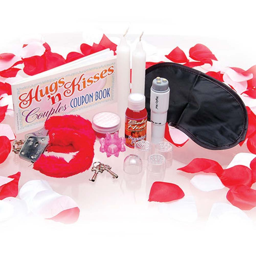 Sex Therapy Kit for Lovers with Vibe and 4 Heads