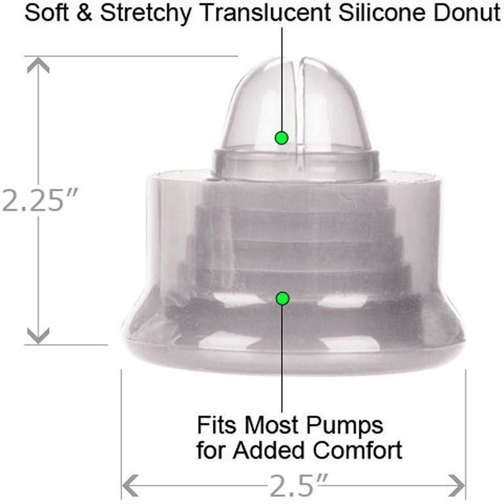 "Optimum Series Universal Silicone Pump Sleeve, 2.5"", Clear"