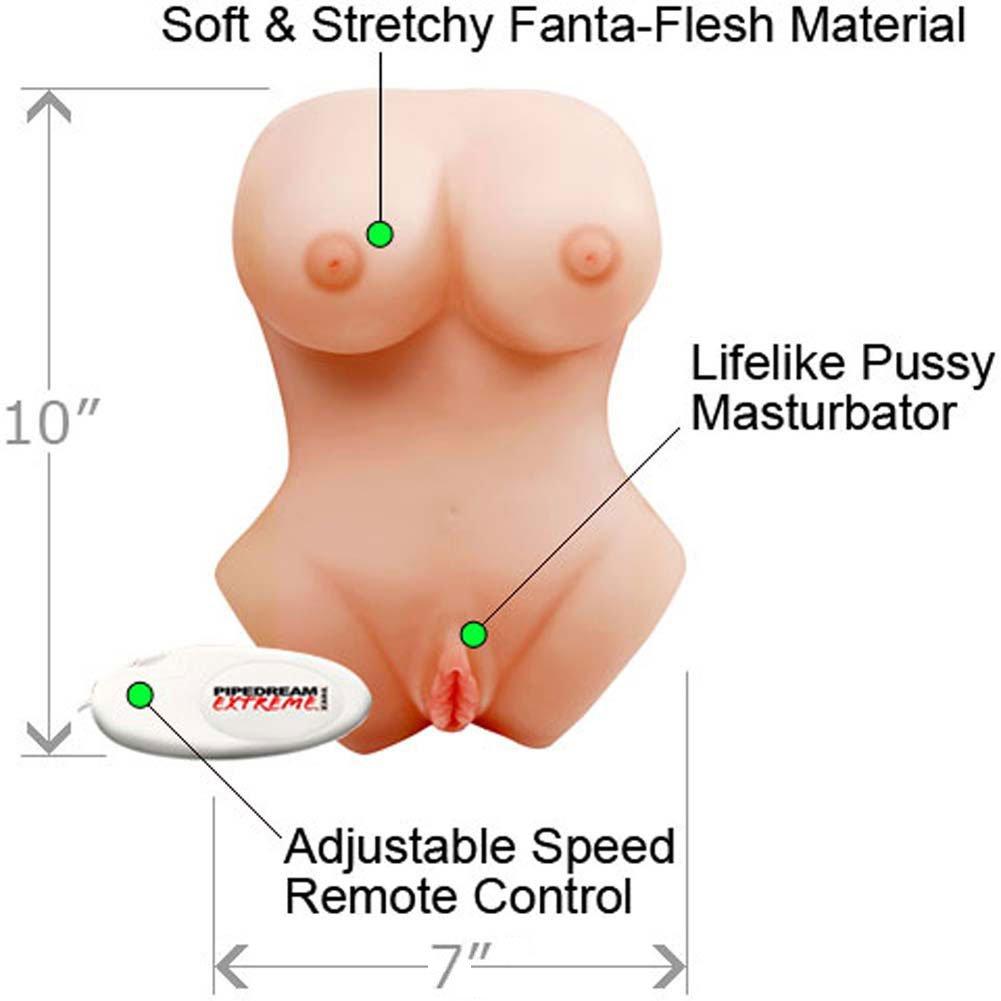 Pipedream Extreme Double D FantaFlesh Vibrating Masturbator, Natural Flesh
