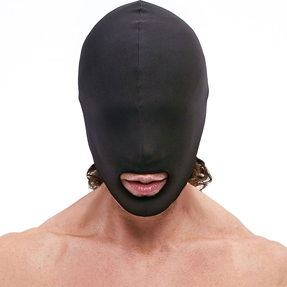 Lux Fetish Open Mouth Stretch Hood, Black