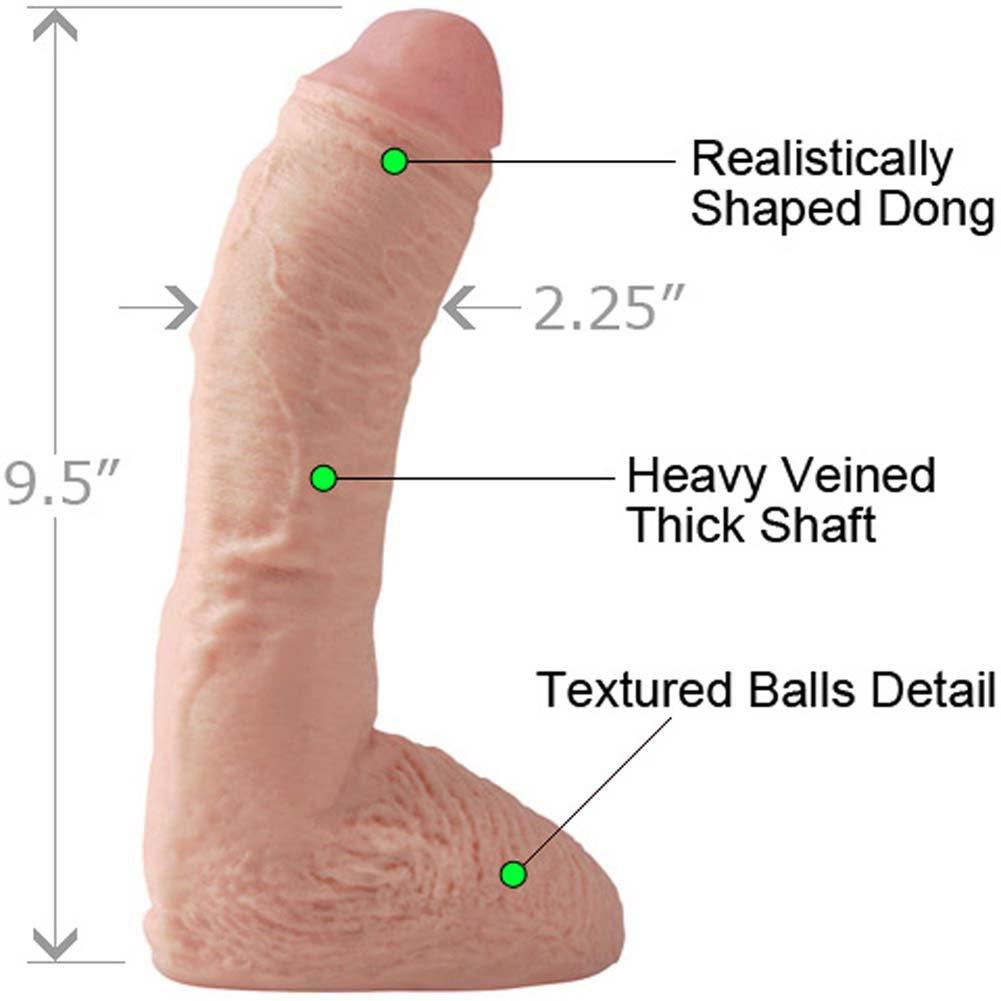 "Basix Rubber Works Fat Boy Dong, 10"", Flesh"