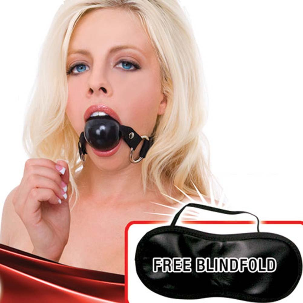 "Dominant Submissive Collection Ball Gag, 2"", Kinky Black"