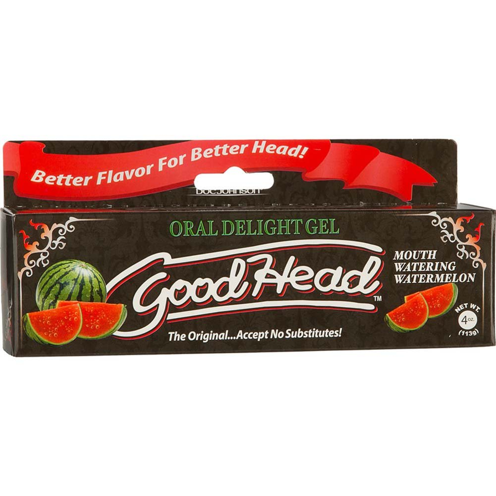 GoodHead Oral Delight Gel for Lovers, 4 Ounce (113 G), Watermelon