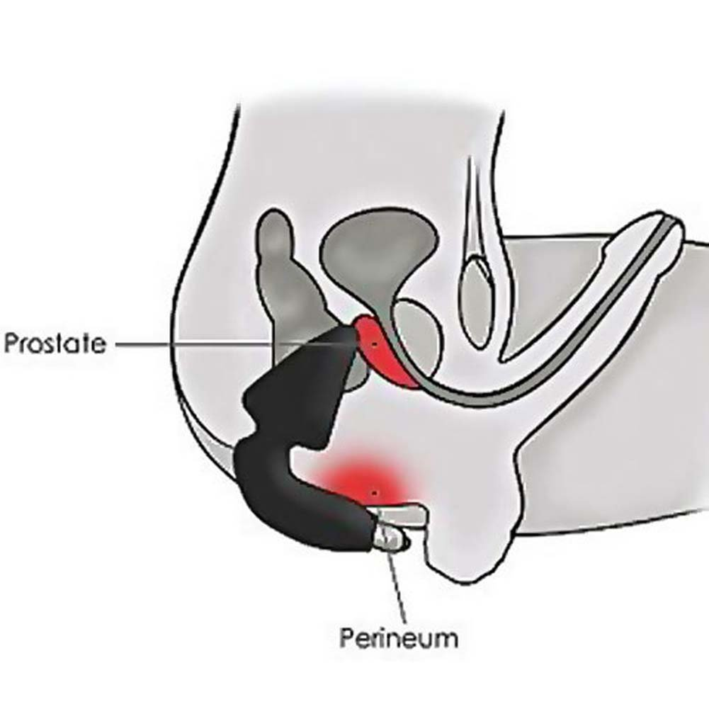 "Rocks Off Butt-Boy Anal Plug and Perineum Massager, 5.5"", Black"