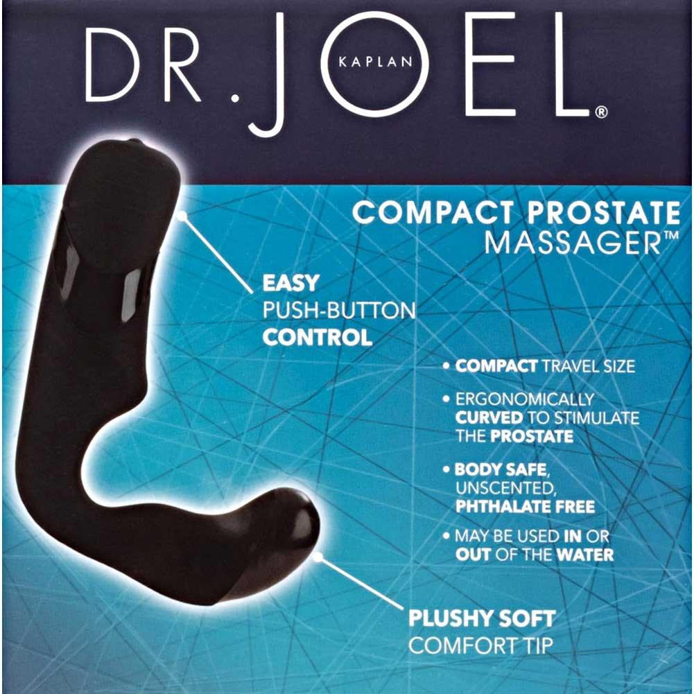 "Dr Joel Kaplan Compact Vibrating Prostate Massager for Men, 4.5"", Black"