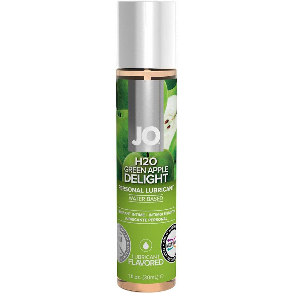JO H2O Flavored Intimate Lubricant, 1 Fl.Oz (30 mL), Green Apple