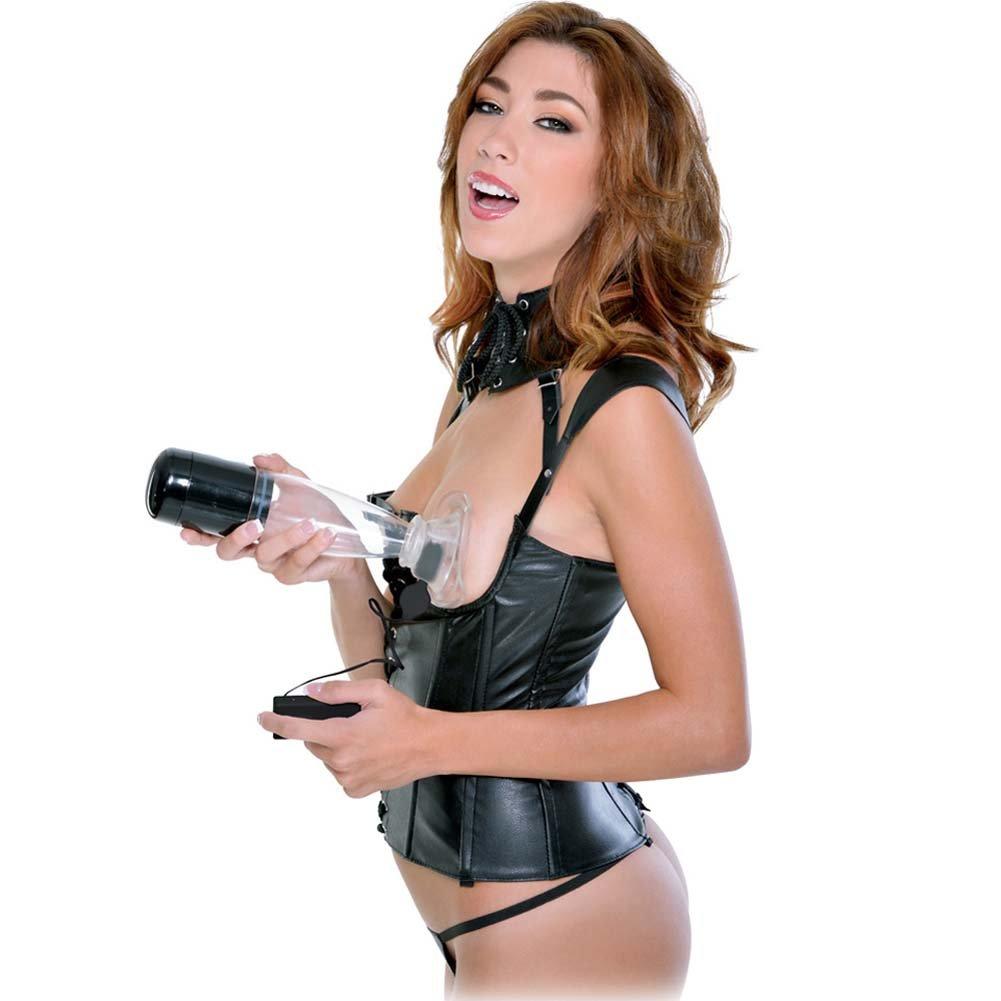 Fetish Fantasy Extreme Vibrating Clit N Tit Power Pump, Black