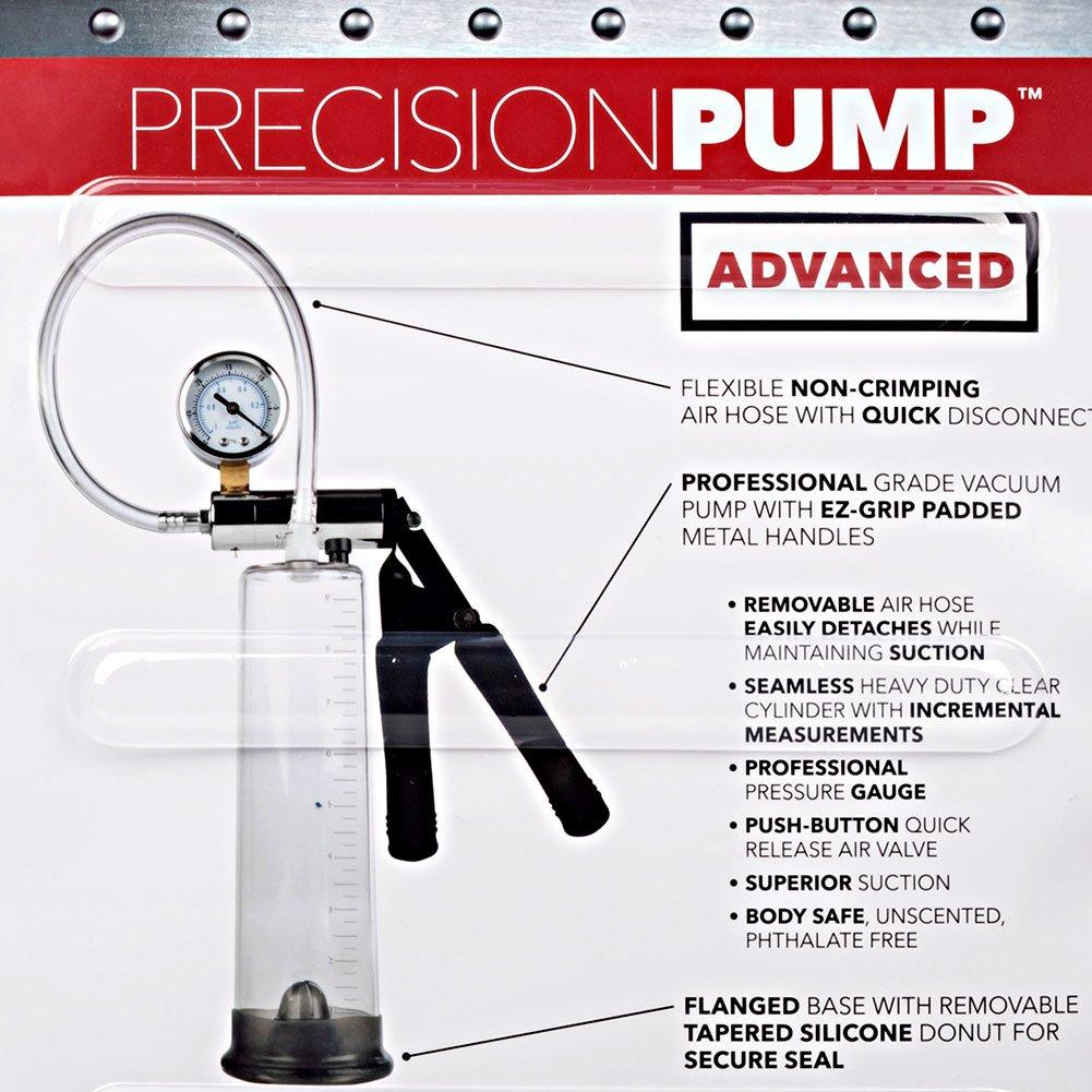"Precision Pump Advanced Penis Pump, 9.5"" by 2.5"", Clear"