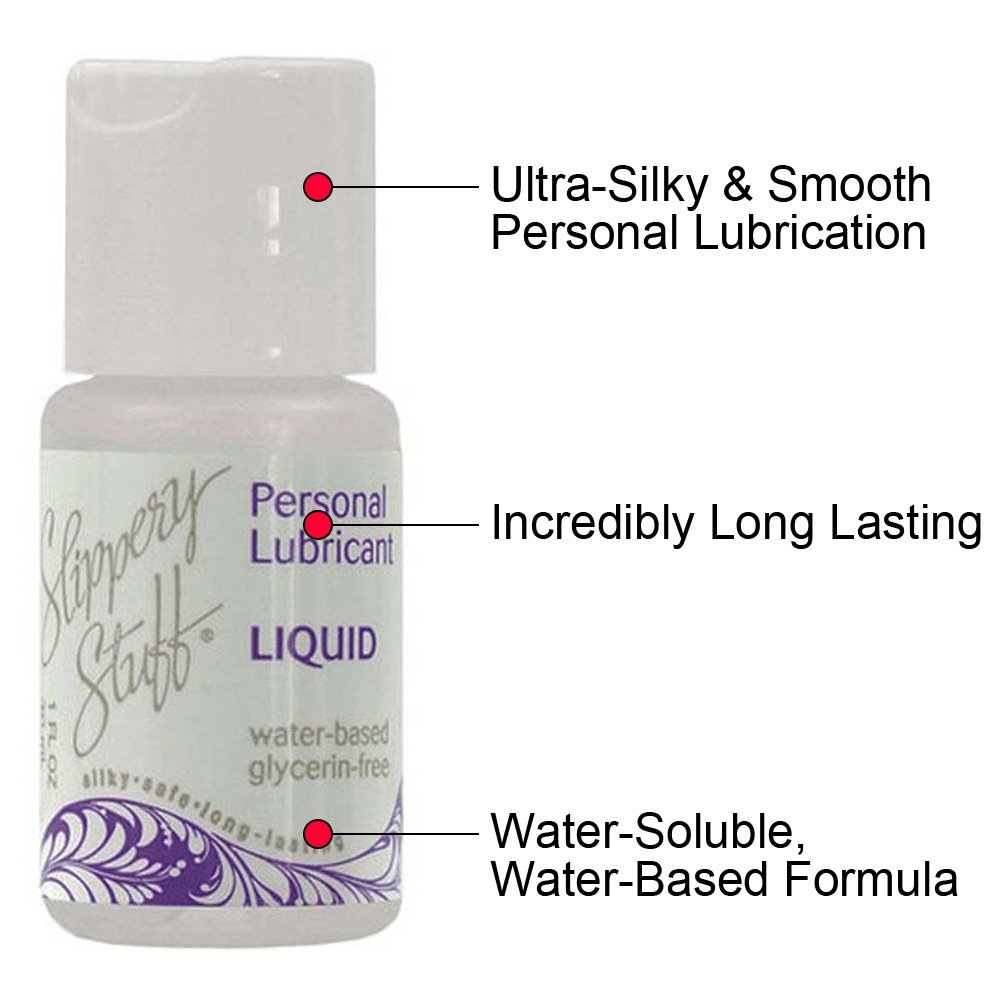 Slippery Stuff Liquid Water Based Personal Lubricant, 1 Fl.Oz (30 mL)
