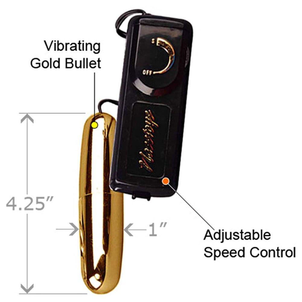 """Nasstoys Intimate Ultra Bullet Vibrator for Men and Women, 4.25"""", Gold"""