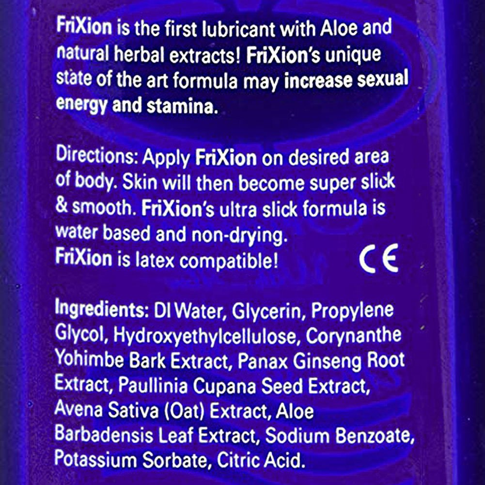 Frixion Natural Stamina Booster Personal Lubricant for Men, 2 Fl.Oz (59 mL)