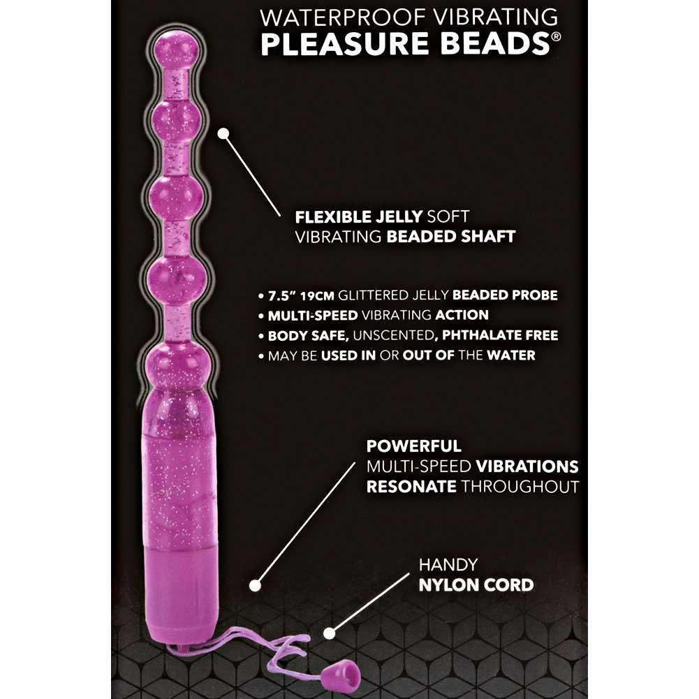 "CalExotics Waterproof Vibrating Pleasure Jelly Beads, 7.5"", Purple"