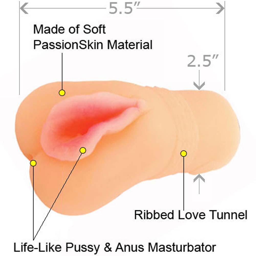 CyberSkin CyberStroker Pussy and Ass Male Masturbator, Flesh