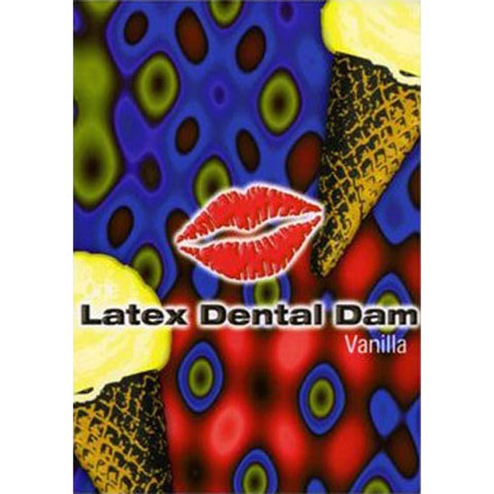 Oral Sex Latex Dental Dam, Vanilla Flavored
