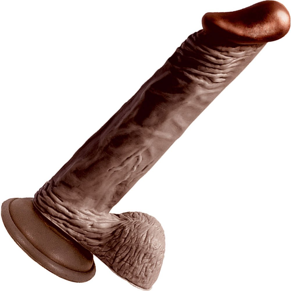 "Nasstoys LifeLikes Black Knight Cock with Suction Cup, 8.5"", Ebony"