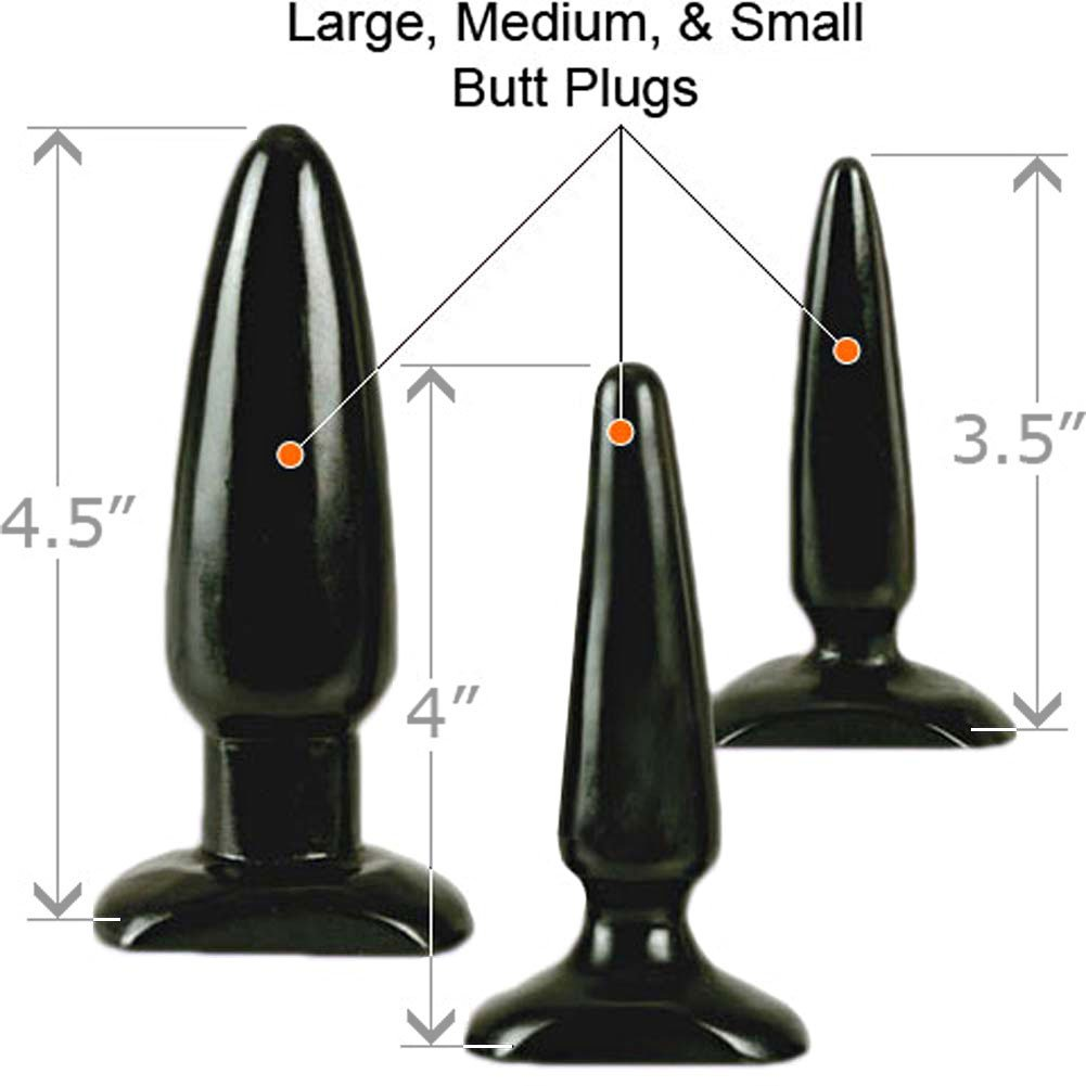COLT Anal Trainer Kit with 3 Butt Plugs, Black