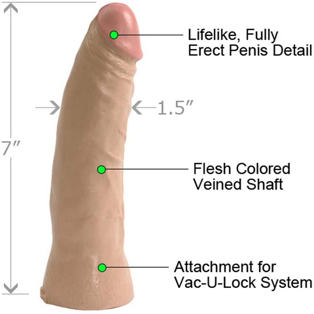 "Vac-U-Lock Thin Realistic Dong, 7"", Flesh"