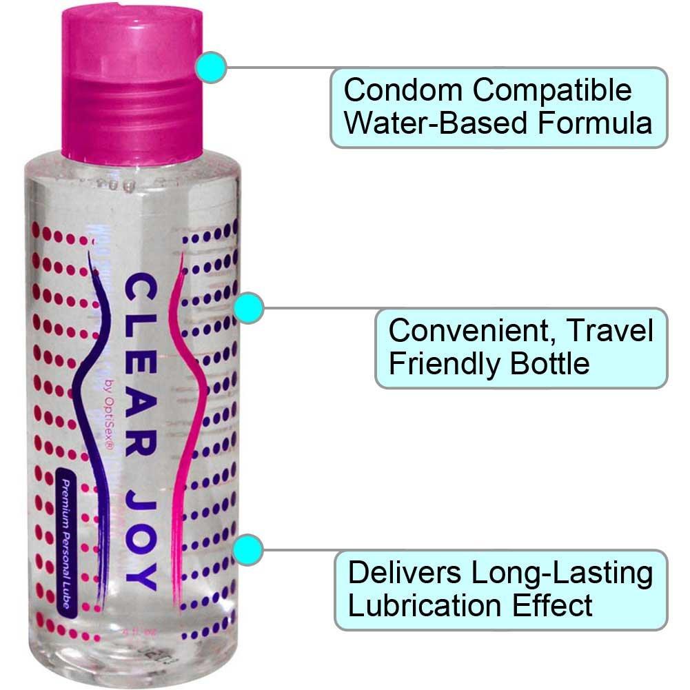 Clear Joy Premium Personal Lubricant for Men and Women, 4 Fl.Oz (120 mL)