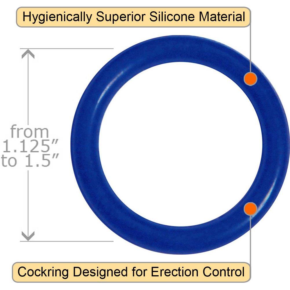 OptiSex Super Silicone Cockrings Set for Men, True Blue