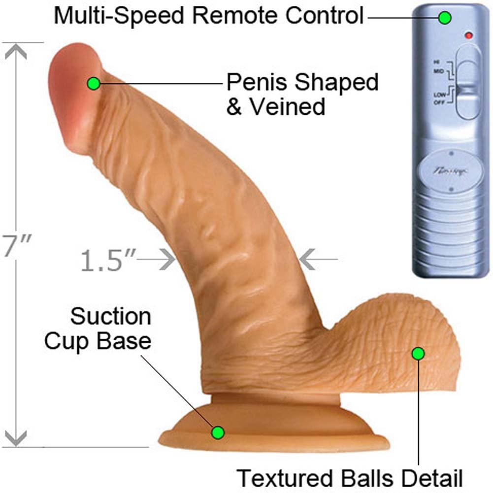 "RealSkin All American Whoppers Flexible Ballsy Vibrator, 7"", Flesh"