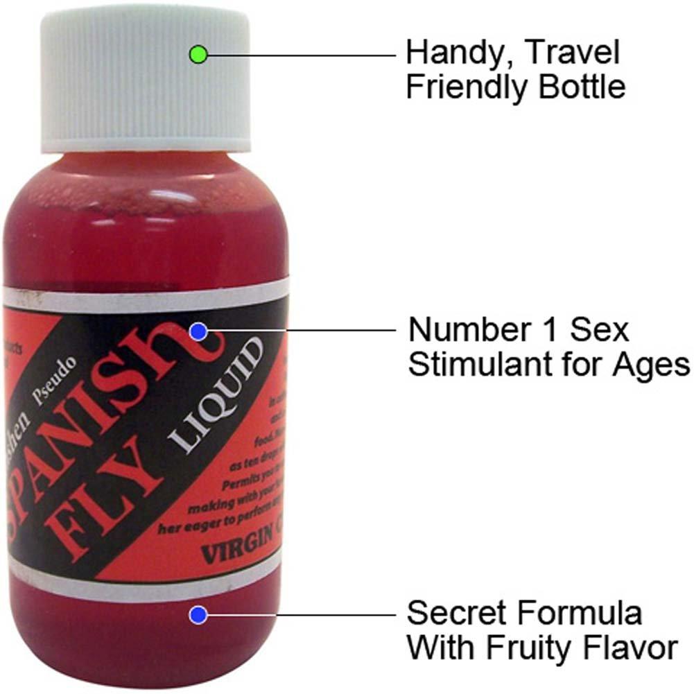 Spanish Fly Liquid, 1 Fl.Oz (30 mL), Virgin Cherry Flavor