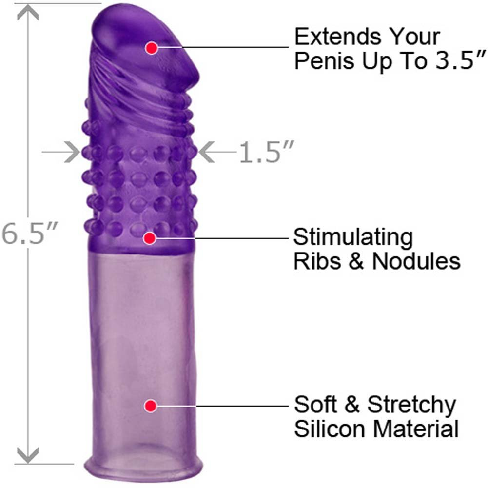 "3.5"" Extra Length Silicone Penis Extension, Purple"
