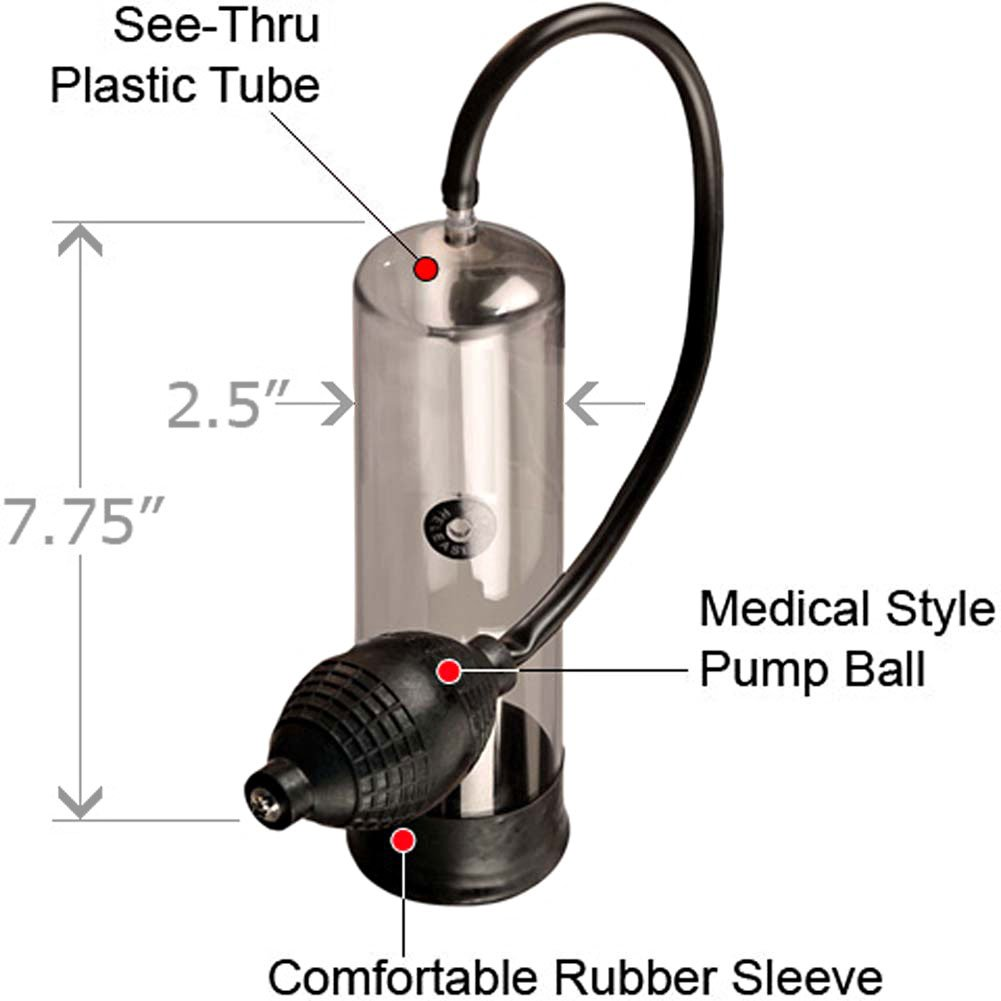 "Potent Developer Penis Pump, 7.5"" by 2.25"", Black"