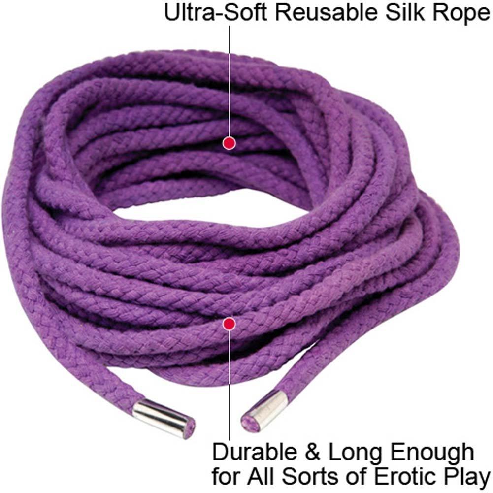 Fetish Fantasy Series Japanese Silk Rope, 35 Feet, Purple