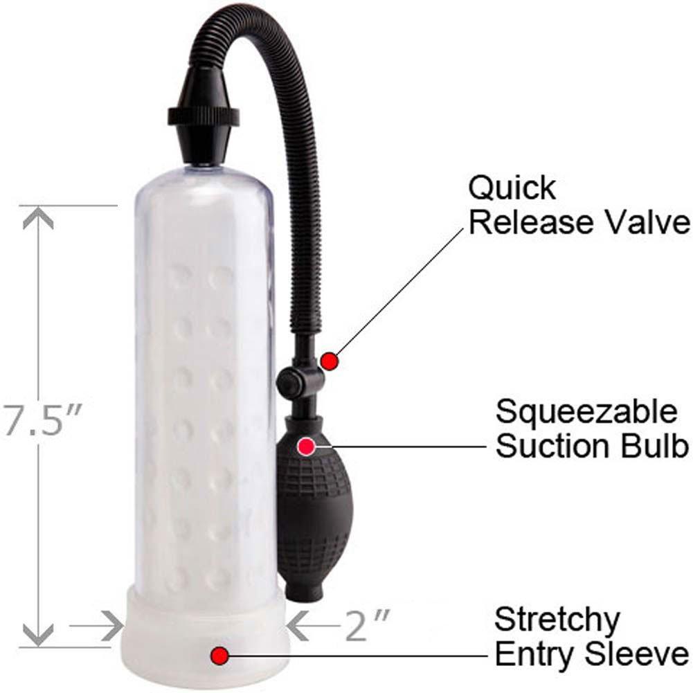 "Pump Worx Silicone Power Pump, 7.5"" by 2"", Clear"