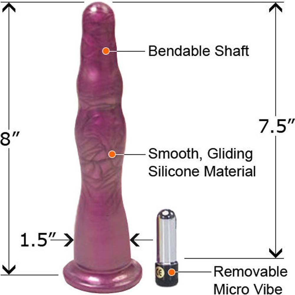 "Hustler Premium Silicone Vibrating Anal Probe Set, 8"", Purple"