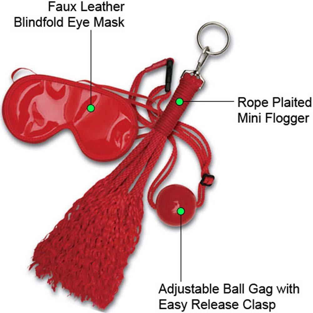 Japanese Silk Love Rope Concubine BDSM Bondage Kit, Red