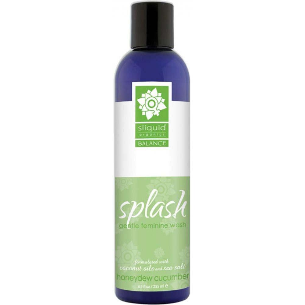 Sliquid Splash Gentle Feminine Wash, 8.5 Fl.Oz (255 mL), Honeydew Cucumber