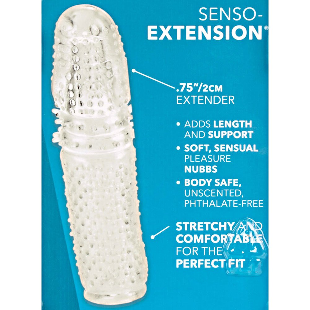 """0.75"""" Extra Length Senso Penis Extension, 5.5"""", Clear"""