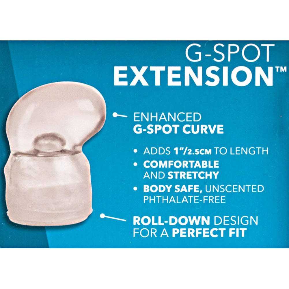 "1"" Extra Length G-Spot Penis Extension, Clear"