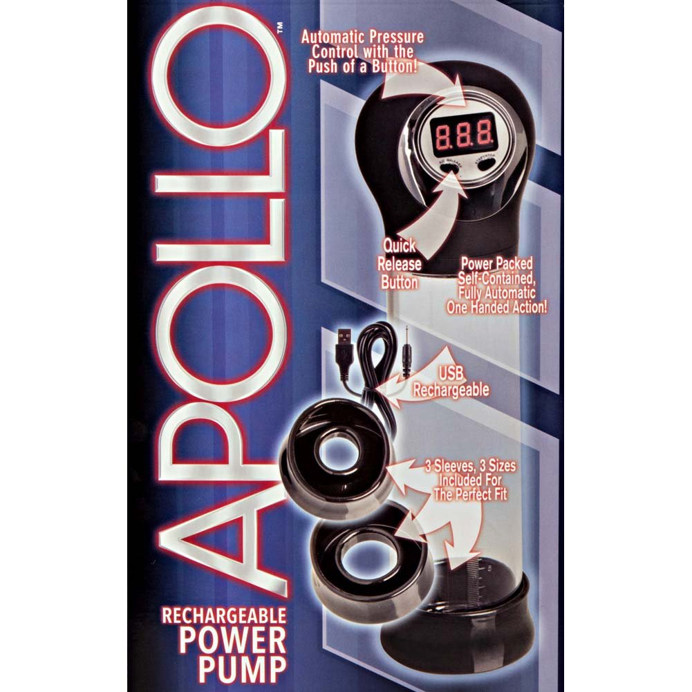 "Apollo Rechargeable Power Pump, 7.5"" by 2.25"", Black"