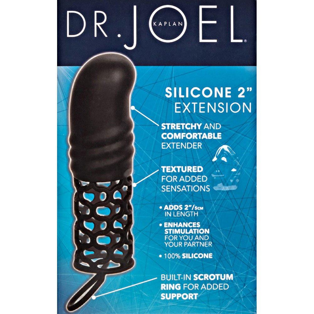 "2"" Extra Length Dr Joel Kaplan Penis Extension with Scrotum Ring, 5.75"", Black"